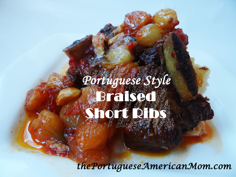 Portuguese Style Braised Short Ribs (Pequenas Costeletas Refogadas) - the portuguese american mom